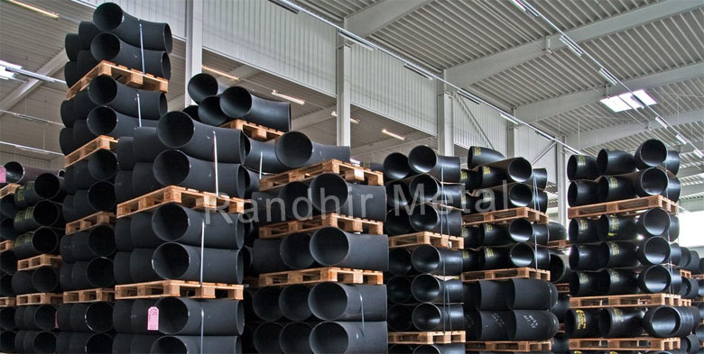 Carbon Steel Pipe Fittings in our Stockyard