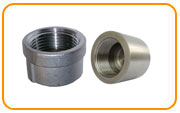 galvanized and black full thread steel coupling